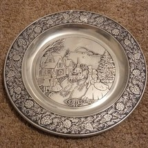 Wilton Pewter 1978 Christmas Plate.  - $21.23