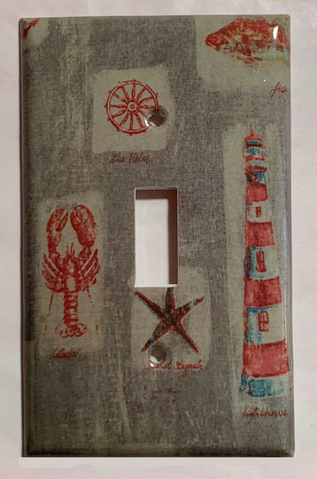 Ocean Lighthouse Fish Light Switch Power Outlet wall Cover Plate Home Decor