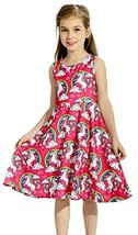 Toddler Girls 3 4 5 6 T Clothes Sleeveless Casual Dresses Unicorn Dress ... - $16.35