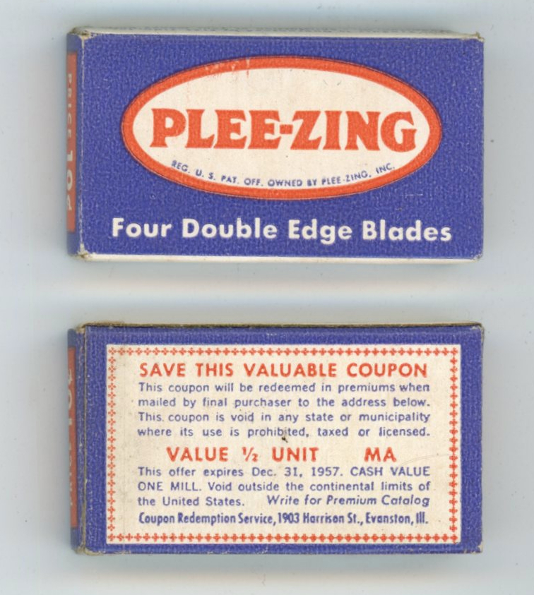 Primary image for Vintage box Plee-Zing razor blades Marlin Firearms CO New Haven CT