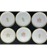 "RARE Set of 6 Mikasa Holiday Christmas 8"" Salad Plates Pink & Gold & White - $24.74"