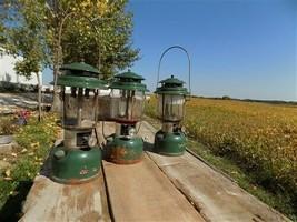 3 Coleman Gas Lanterns 78-79-82 Sunshine of the Night Camping Hunting Vintage c - $124.00