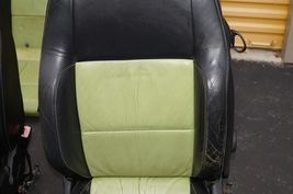 00-04 Volkswagen Vw Beetle Bug Hatchback Turbo GLS Leather Seat Set Green & BLK image 6