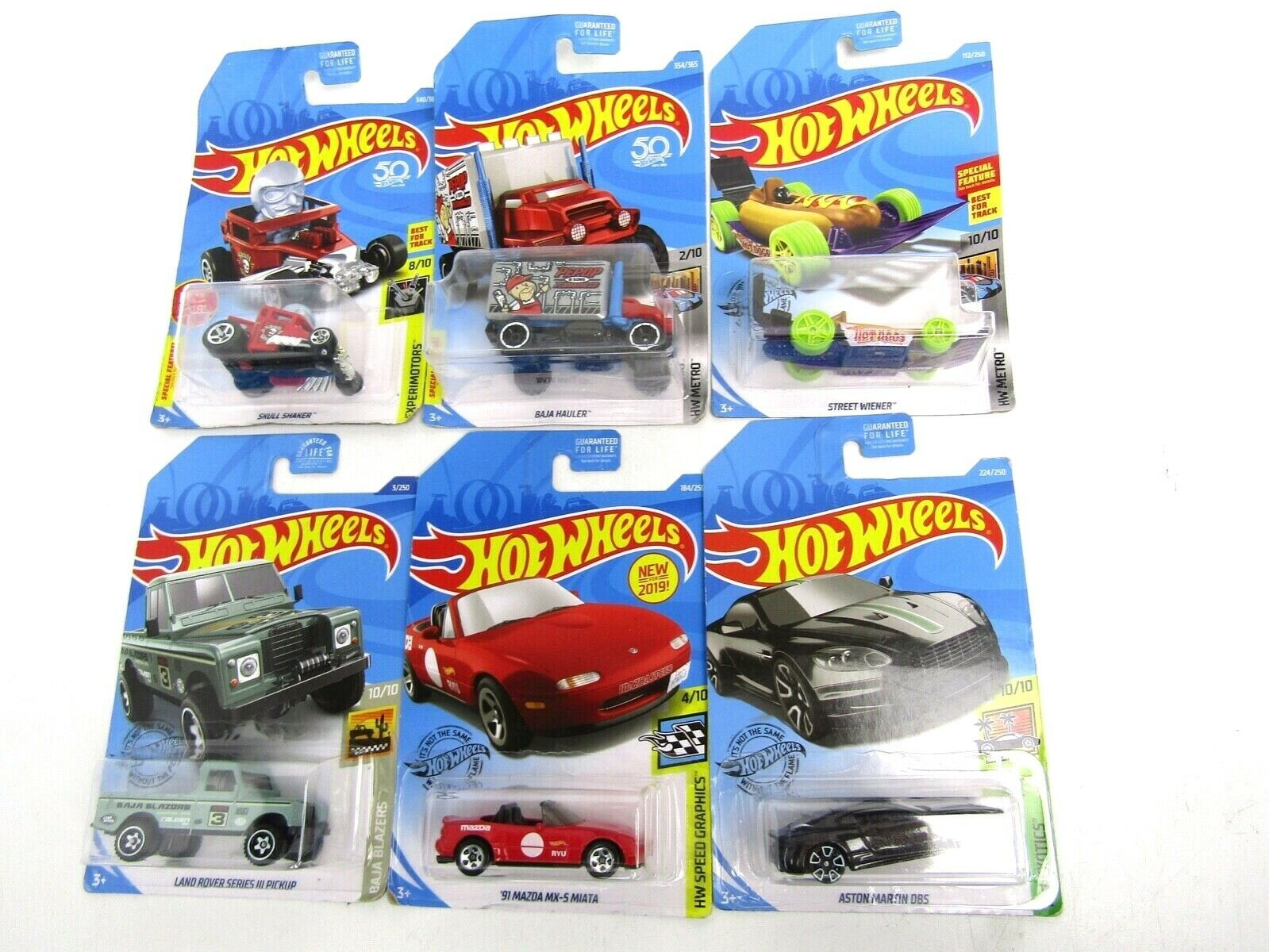 Primary image for Hot Wheels Lot of 6 Various Cars New in Package - See Photos for Models
