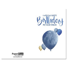Dear Friend Balloons Birthday Card --- with Custom Handwritten Message - mail... - $2.23