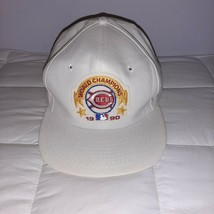 VINTAGE Deadstock 90's MLB Cincinnati Reds Snapback Hat 1990 World Series NWT - $27.21