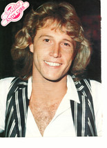 Andy Gibb teen magazine pinup clipping shining eyes vintage 1970's Teen Beat