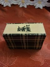 Scotties on Double Deck Upright Storage Box w/ 2 Decks of Cards 1 unopened image 10