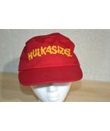 """Hulk Hogan """"HULKASIZED"""" WWF 80s Red Painters Kid's Hat Distressed Fits A... - $28.01"""