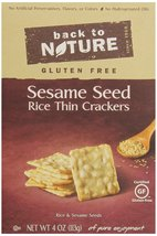 Back To Nature Gluten Free Rice Thins, Sesame Seed, 4 Ounce - $8.90