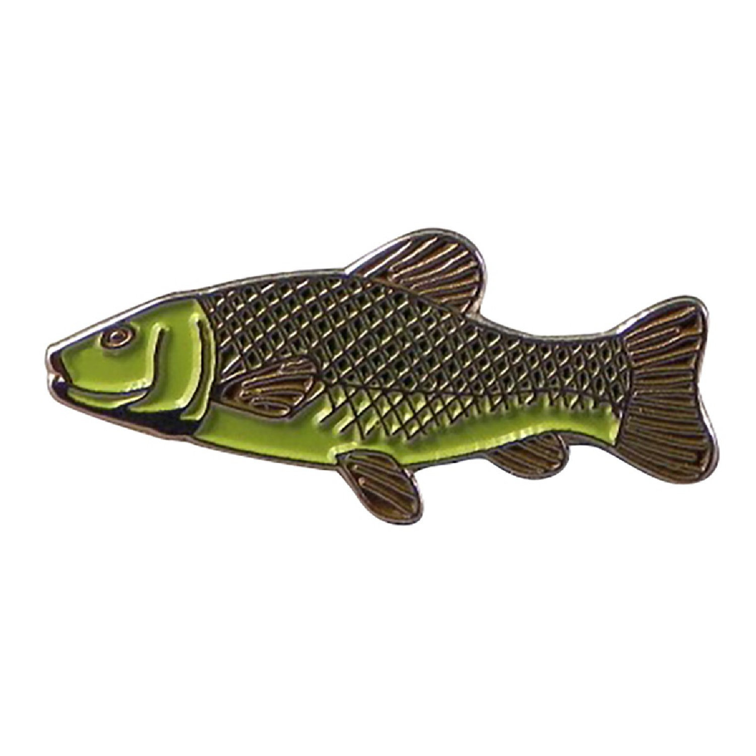 tench fish silver Metal Enamel finish colour Badge Lapel /tie Pin Badge 3d effec