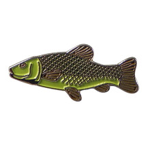 tench fish silver Metal Enamel finish colour Badge Lapel /tie Pin Badge 3d effec