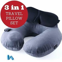 Inflatable Neck Pillow - Travel Pillow Set for Airplane - Neck Travel Pi... - $27.99