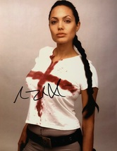 ANGELINA JOLIE AUTOGRAPHED Hand SIGNED TOMB RAIDER 11X14 PHOTO w/COA LAR... - $109.99