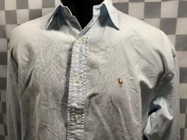 Ralph Lauren The Big Oxford Bouton avant Bleu Clair Chemise Homme Taille 4 - $14.02