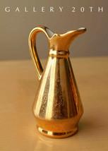 22K GOLD MID CENTURY MODERN VASE CREAMER! PORCELAIN 1950S ATOMIC RANCH D... - $300.00