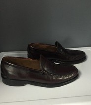 JOHNSTON AND MURPHY Burgundy Aristocraft Leather Slip On Loafers Sz 12 B... - $30.73