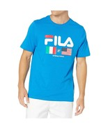 Fila International Men's T-Shirt Direct Blue LM913786-916 - $18.00