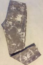 Express Jeans Women Ankle Stella Regular Fit Low Rise Gray Tie Dye Acid Wash 8 - $24.99