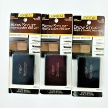 Lot of 3 Loreal Brow Stylist Prep & Shape Pro Kit 386 Light/Medium - $12.89