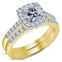 Elegant Cushion Cut White Sim Diamond Womens 925 Sterling Silver Bridal ... - $86.99