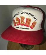 VTG SAN FRANCISCO 49ers World Champions 80s USA New Era Trucker Hat Cap ... - $42.25
