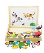 Animals Puzzle Wooden Educational Toys Magnetic Art Ease Games For Kids New - $8.19