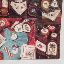 Lots of Christmas Cross Stitch Pattern Booklet 894 1990 33 Designs Santa... - $9.99