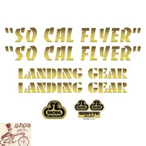 SE BIKES SO CAL FLYER GOLD STICKERS DECAL SET - $19.79