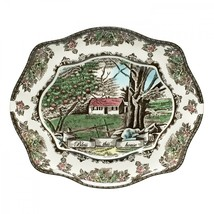 """Johnson Brothers Friendly Village """"Bless This Home"""" Tray New in Box (s) - $39.59"""