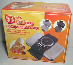 PASTRY MAKER  Electric WAFER-IRON SLASTYONA (SWEET-TOOTH) RUSSIA 220V - $78.70
