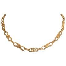 MINT. Vintage Celine gold tone twisted chain necklace with blaison macadam charm - $220.00