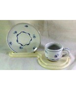 Italian Daisy Demitasse Cup And Saucer Set - $8.09