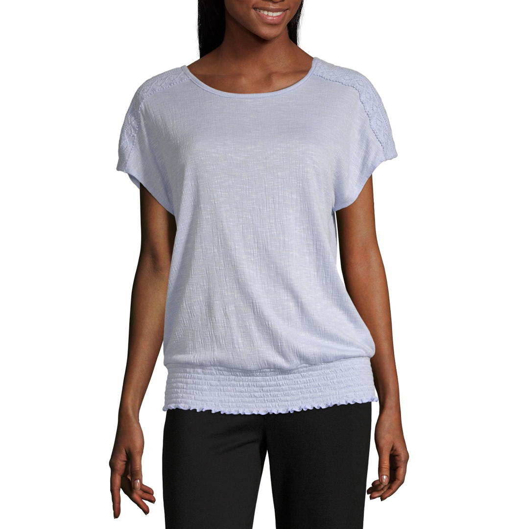 Primary image for Alyx Womens Round Neck Short Sleeve Knit Blouse Size M, XXL New Msrp $44.00