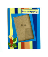 "Blue Picture Frame Summer Vacation Theme 6"" x 4 "" Picture Opening - Wood - £13.60 GBP"