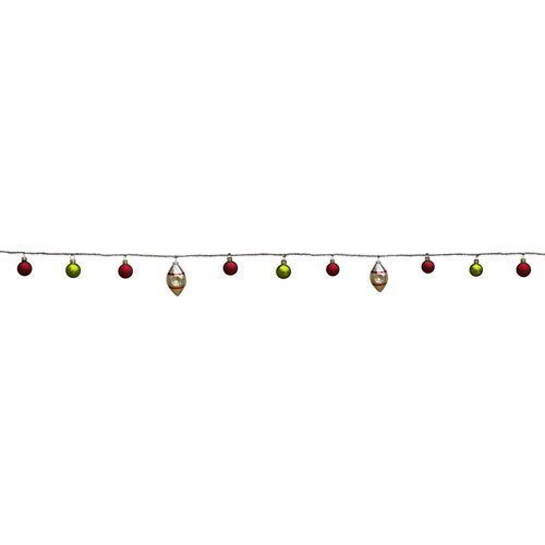 Melrose International Tinsel and Ornament Garland