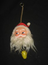 Vintage Musical Santa Pull String and Box Play Jingle Bell - $18.65