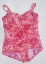 Le cove  womens swimsuit floral pink sz 22w - $15.99