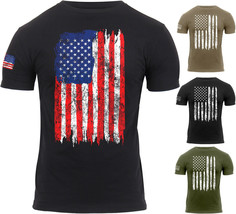 Mens US Flag Athletic T-Shirt Muscle Build Tactical Tee American Patriot... - $13.99+