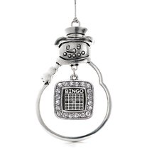 Inspired Silver Bingo Classic Snowman Holiday Christmas Tree Ornament Wi... - $14.69