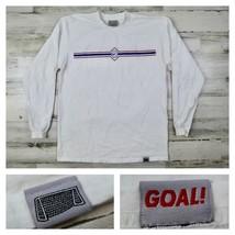 Vintage Nike Mens USA Soccer Team Long Sleeve T-Shirt Gray Tag 90s Size ... - $39.99