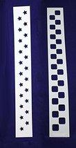 Checkerboard/Star Border Stencil Set - 2 Piece Set - 3 x 23.5 Inches - $10.39