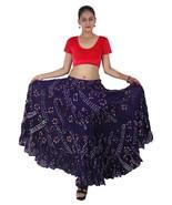 Rajasthani Jaipur Jupe de danse du ventre à pois en coton de 25 mètres p... - $52.28