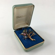 Sarah's Mother's Pin Family Tree Brooch Sarah Coventry Cov Box Vtg Woman... - $46.48