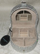 Cynthia Rowley New York Womens Silver Sequins Sparkle Travel Jewelry Box... - €23,13 EUR