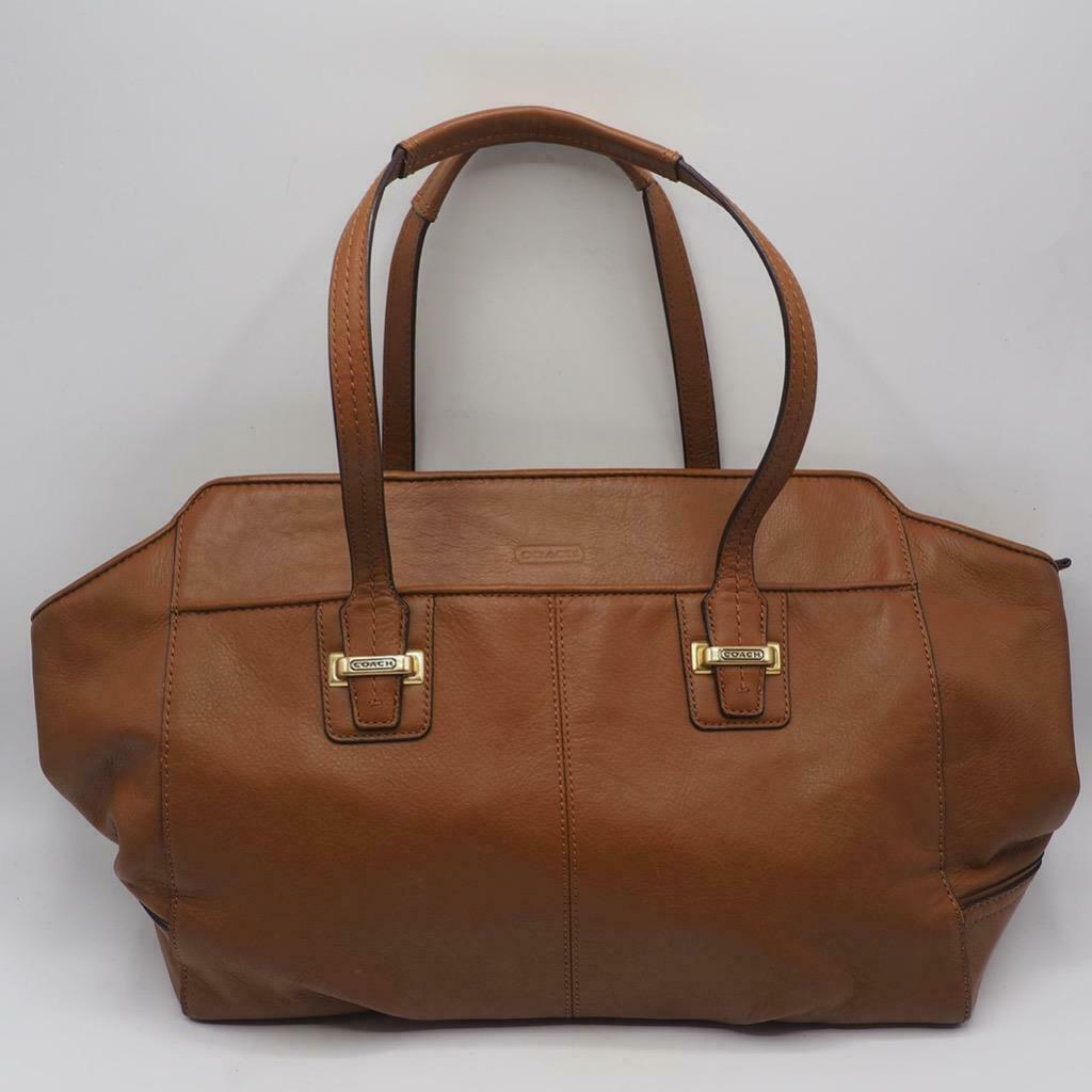 Primary image for Coach F25205 Taylor Leather Alexis Carry All Handbag Purse Brown