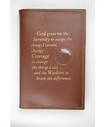 Alcoholics Anonymous AA Big Book Cover Serenity Brown Medallion Chip Holder - $17.96