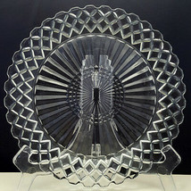 """Anchor Hocking Waterford AKA Waffle Dinner Plate 9-5/8"""" Clear Glass Diam... - $7.43"""