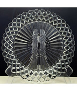 "Anchor Hocking Waterford AKA Waffle Dinner Plate 9-5/8"" Clear Glass Diam... - $7.92"