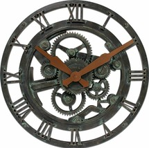 "Gears Open Face 15"" Large Round Wall Clock, Modern Design Quartz - NEW - $36.61"